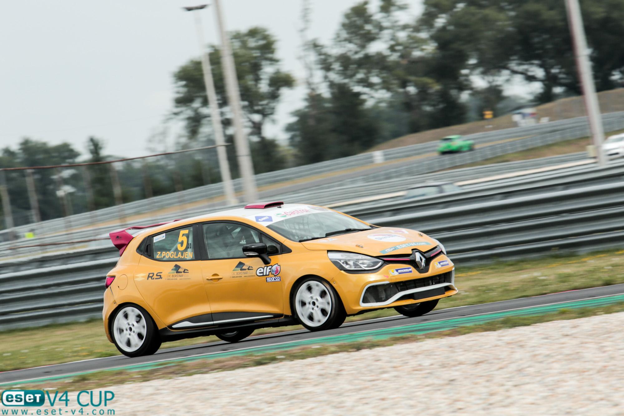 První šampion ESETu, Zoran Poglajen vyhrál Clio Cup IV