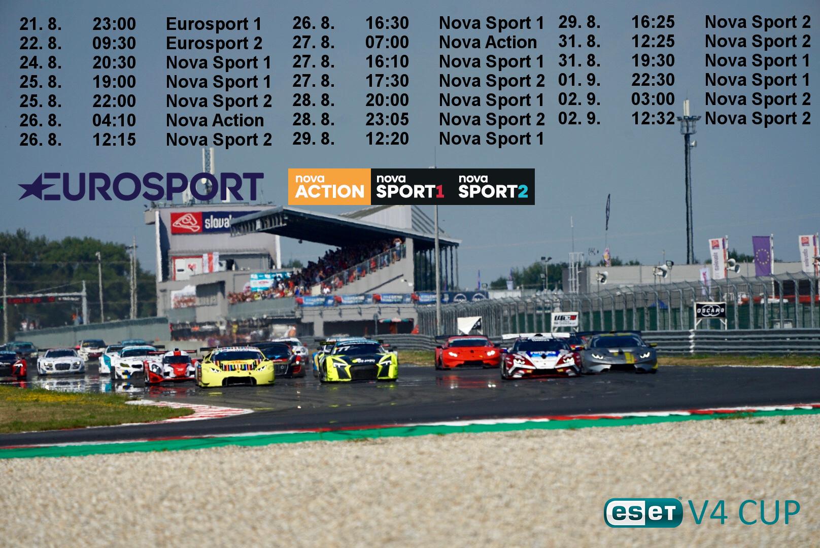 Televizní reportáž ze Slovakia Ring můžete sledovat už zítra na stanici Eurosport 1