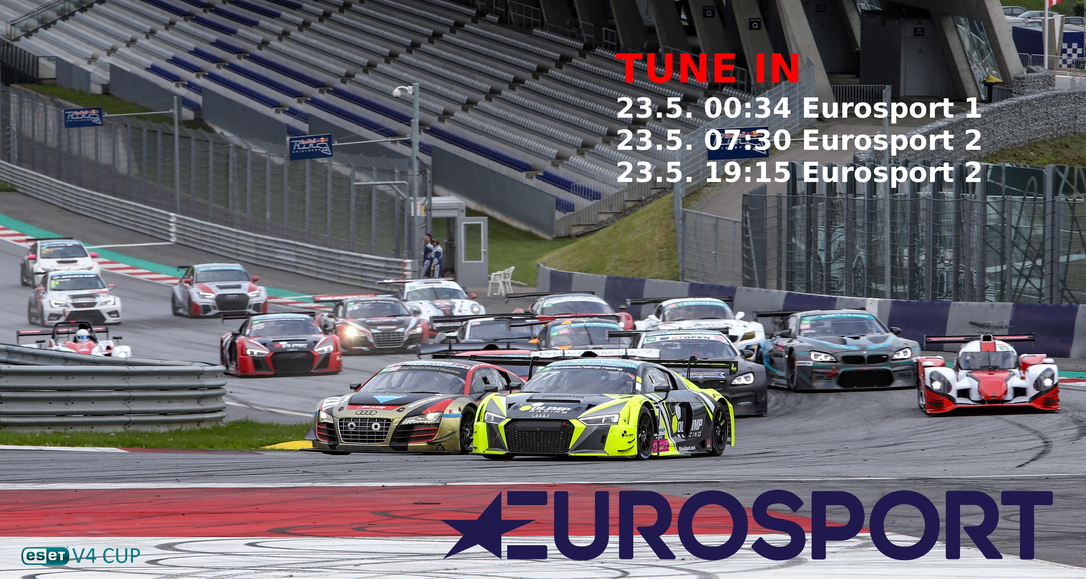 ESET MMSR z Red Bull Ringu na Eurosportu