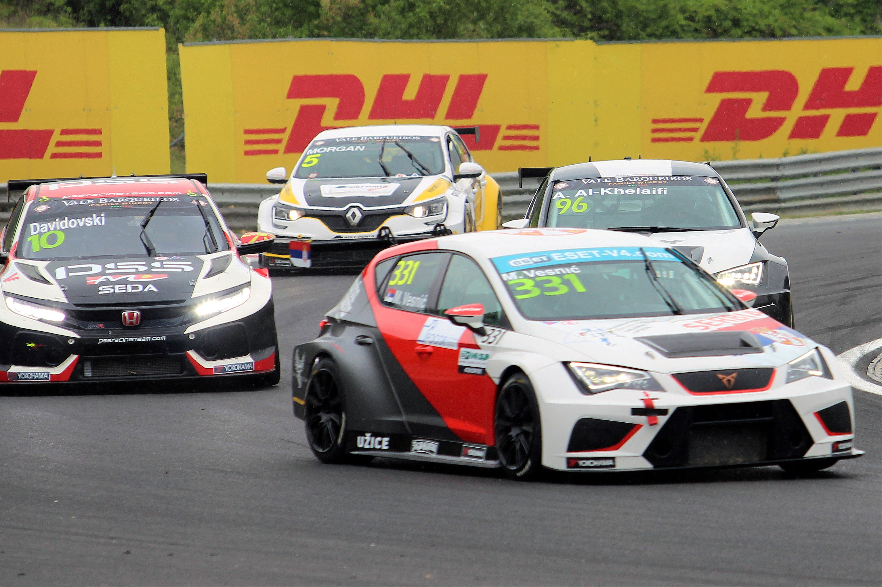 Two winners of the opening round of ESET TCR: Martin Ryba and Milovan Vesnič